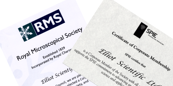Corporate Membership Certificates for the SPIE and RMS